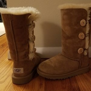 UGG Kids Bailey Button Triplet Boot